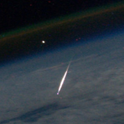 A view of a Shooting Star from Space