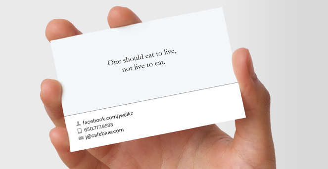 How about a facebook timeline business card facebook card colourmoves