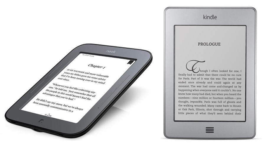 Nook and Kindle Touch