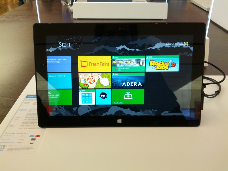 The Microsoft Surface Experience