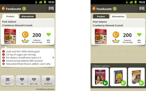 Health Apps Fooducate Android