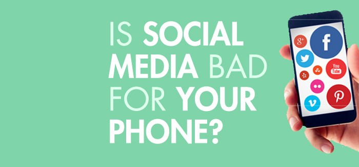 Is Social Media Bad For Your Phone? [Infographic]