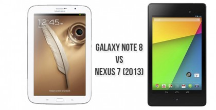 Nexus 7 vs Galaxy note 8