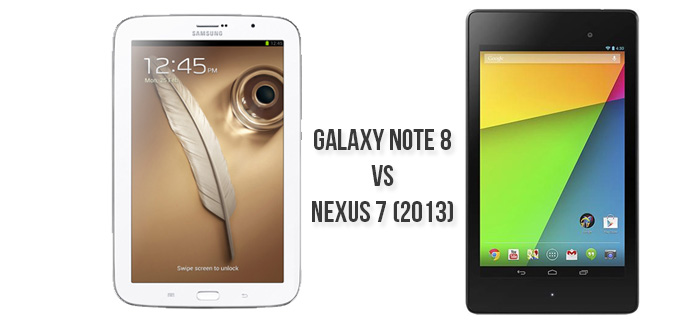 Samsung Galaxy Note 8 vs. the New Google Nexus 7(2013)