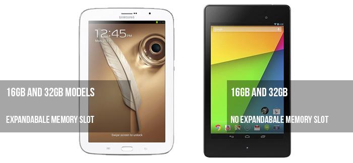 Nexus 7 vs Galaxy note 8