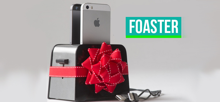 Foaster- A toaster that charges your iPhone