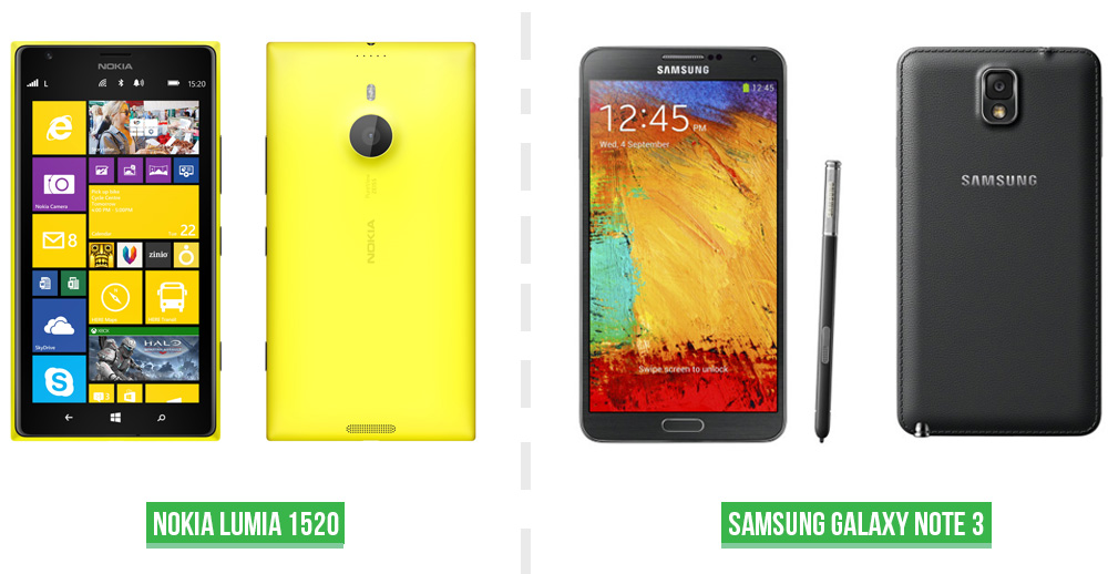 Galaxy Note 3 vs Lumia