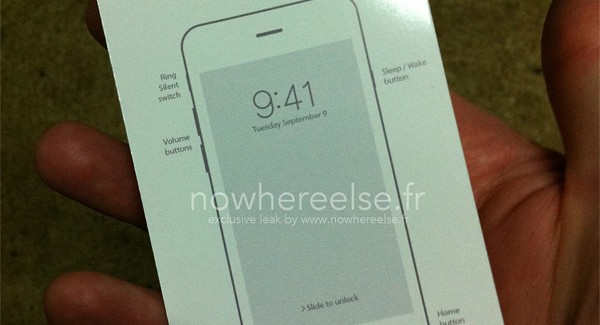 New design of iPhone 6 revealed through a manual