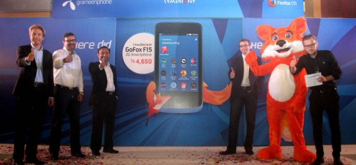 Grameenphone & Symphony unveils GoFox F15 running on FireFox OS