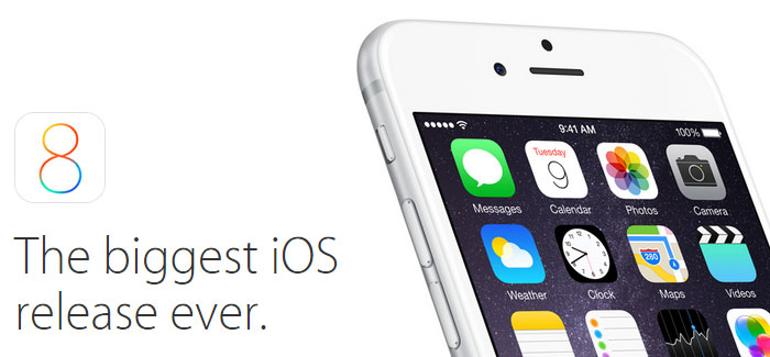 iOS 8 download is now available