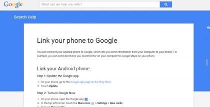 Google Help Link
