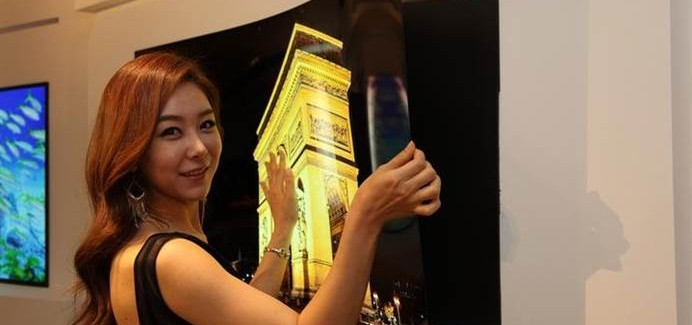 LG shows off amazing 'wallpaper' OLED display