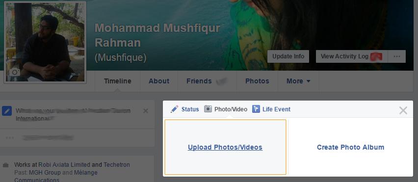 Facebook Upload