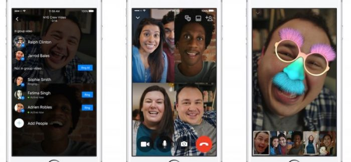 Group video chats now available on Facebook Messenger.