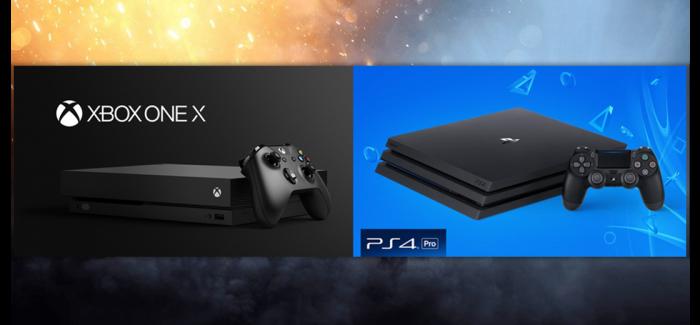 Xox One X vs PS4 Pro