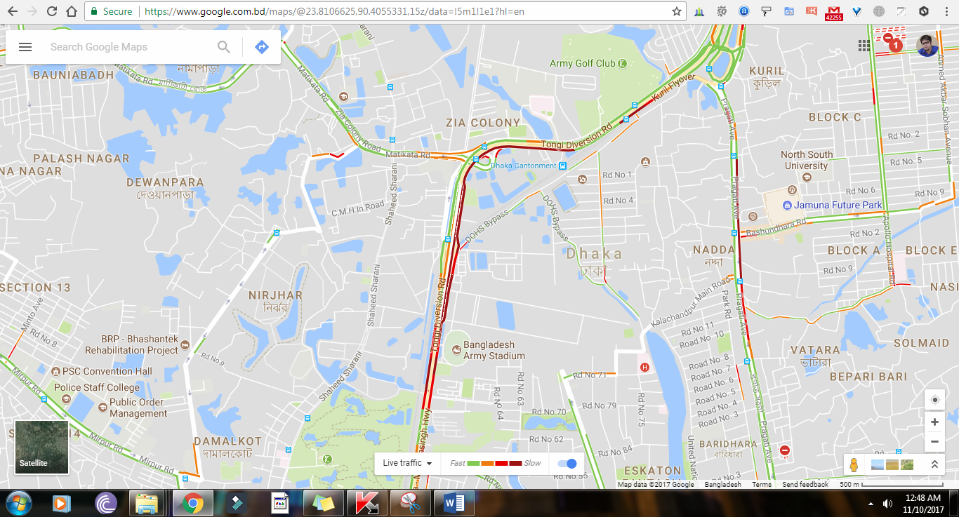 Real time traffic update in bangladesh is live in google maps googlemapstrafficupdatebangladesh gumiabroncs Gallery