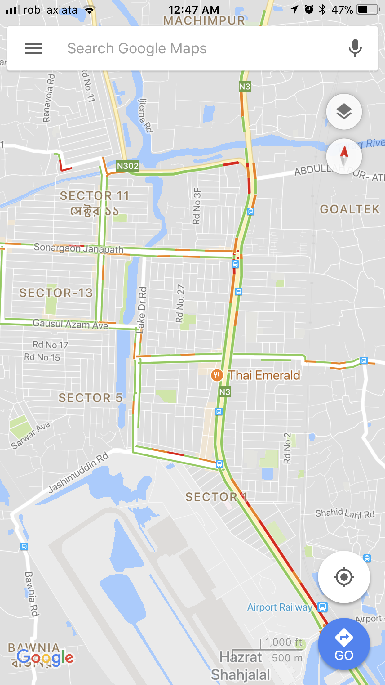 real time traffic update in bangladesh is live in google maps