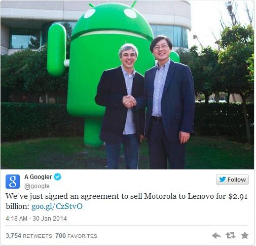 Google Sells Motorola