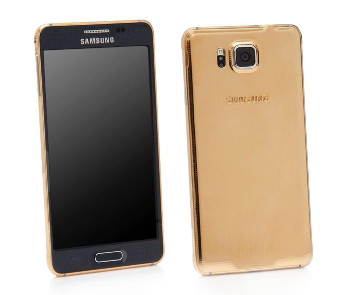 Gold Samsung Galaxy Alpha