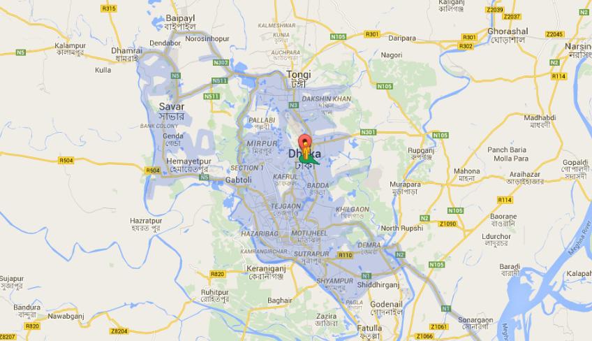 DHaka Google Street map