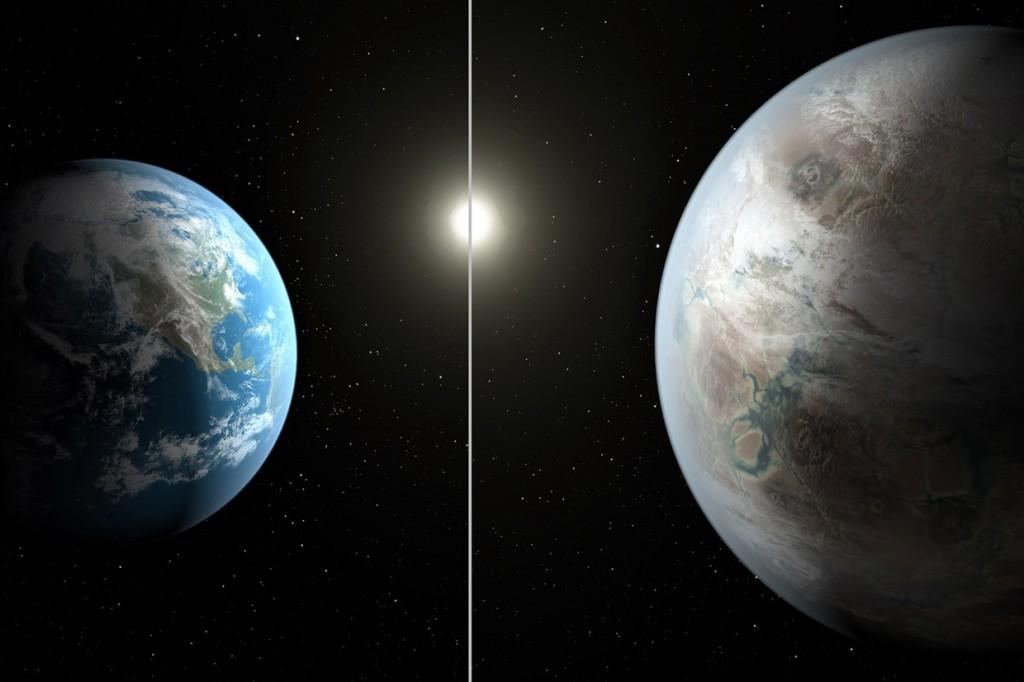 Kepler 452B and Earth