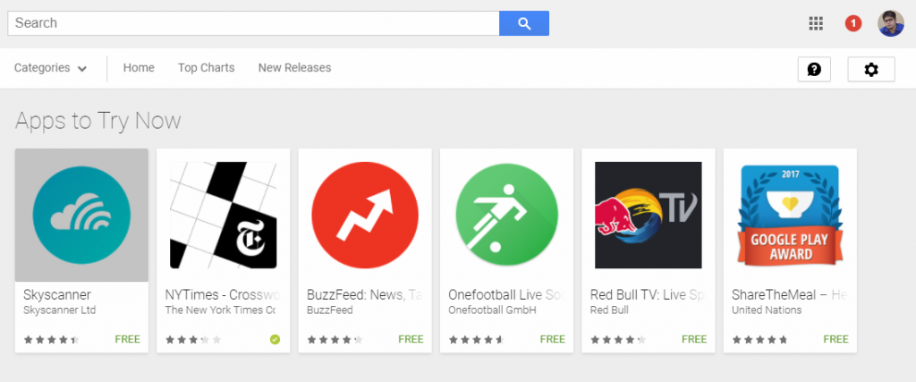 Playstore Instant Apps